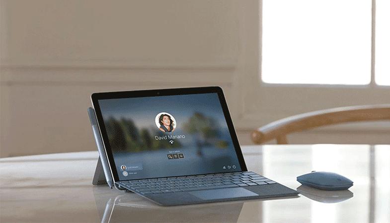 Login auf dem Surface Go 2 via Windows Hello Gesichtserkennung